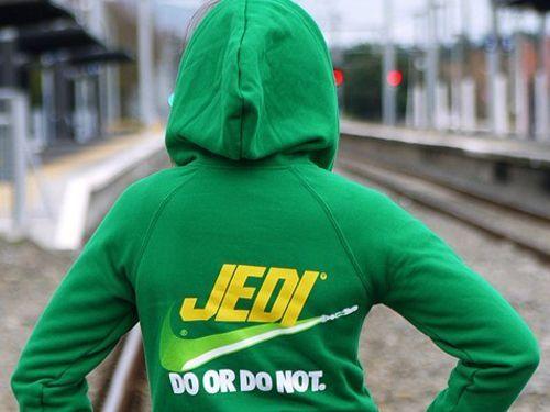 Jedi hoodie -- do or do not. Sweet!
