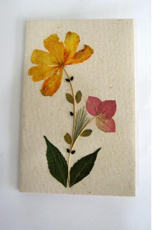 Pressed Flowers card..