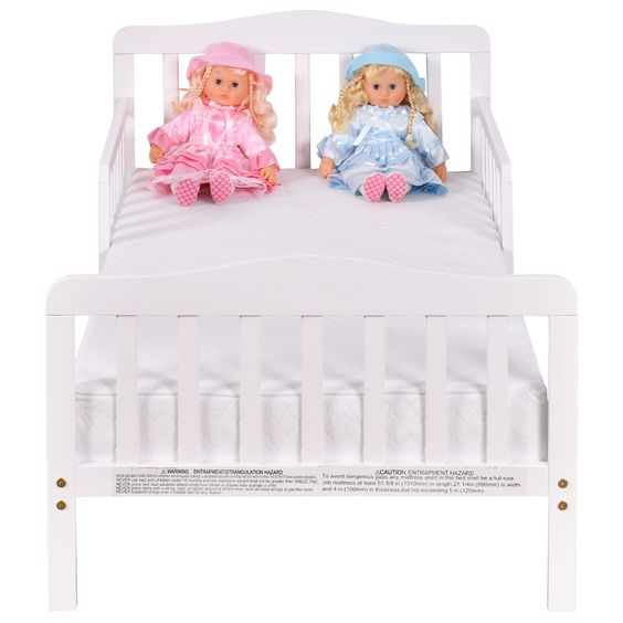 Pre Order Baby Toddler Bed Kids Wood Bedroom Furniture w/ Safety Rails - Baby & Toddler Furniture - Furniture