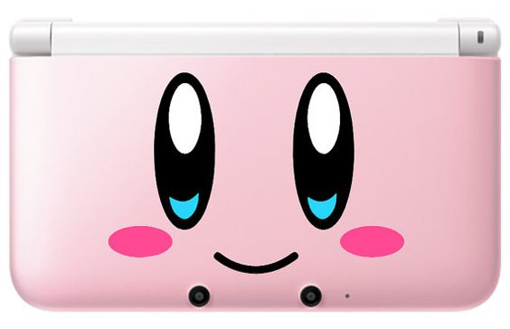 Kirby face Decal set for PinK 3ds or 3ds xl par GameThemedThings, $8.00