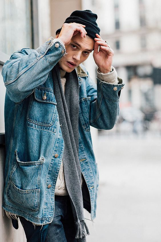 jean jackets cool style fashion weeks street styles bays jackets jeans ...