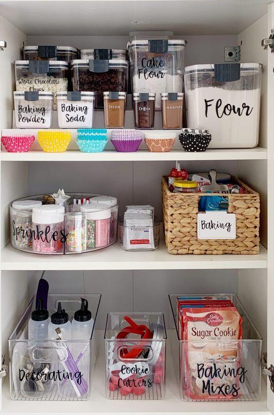 46 Kitchen Cabinet Organization Ideas » Lady Decluttered