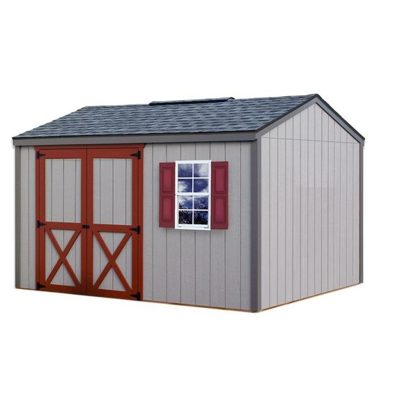 Best Barns Cypress 12 Ft X 10 Ft Wood Storage Shed Kit Clear Storage Shed Kits Shed Kits Wood Shed