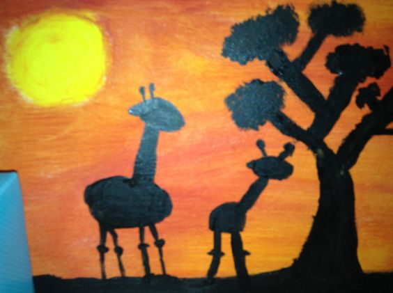 DIY sunset and a giraffe