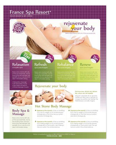 free massage therapy brochure templates - beauty spa massage resort flyer template great beauty