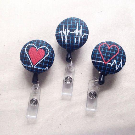 Nurse ID Badge Holder Cardiac Nurse Nursing Gift by kuddlebumz