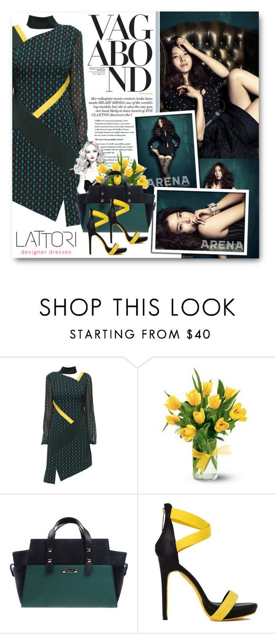 """""""Se Ah"""" by warna ❤ liked on Polyvore featuring moda, Lattori, Vagabond y Dsquared2"""