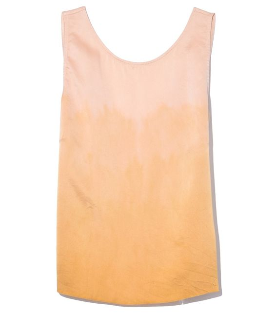 Raquel Allegra Low Back Tank in Golden Sun Tie Dye - ShopBAZAAR