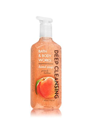 Peach Bellini Deep Cleansing Hand Soap Bath And Body Works