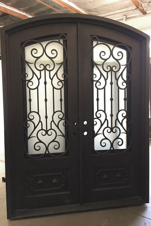 Elite 72 X 108 Right Hand Iron Doors Iron Entry Doors Iron Door Design