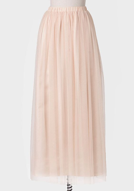 Dancing Through Life Tulle Maxi Skirt In Cream http://rstyle.me ...