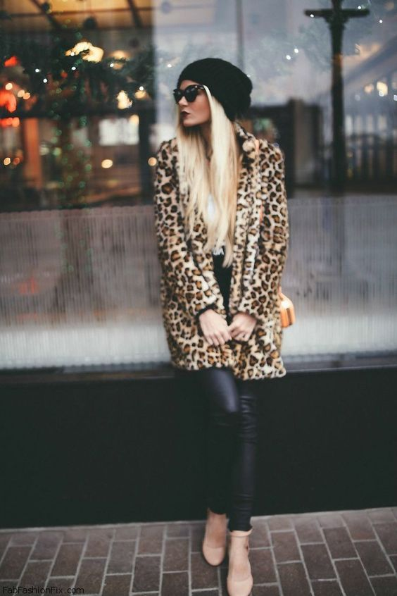 love the coat, but this winter slouchy beanies are going to be my thing *