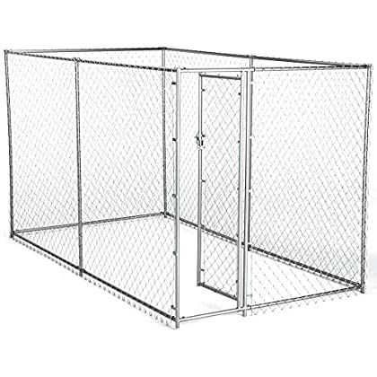 Dog Kennel For Xxl Dogs Large Breed Chain Link Outdoor Dog Run 6 X 10 X 6 You Can Find More Details In 2020 Chain Link Dog Kennel American Kennel Club Dog Playpen