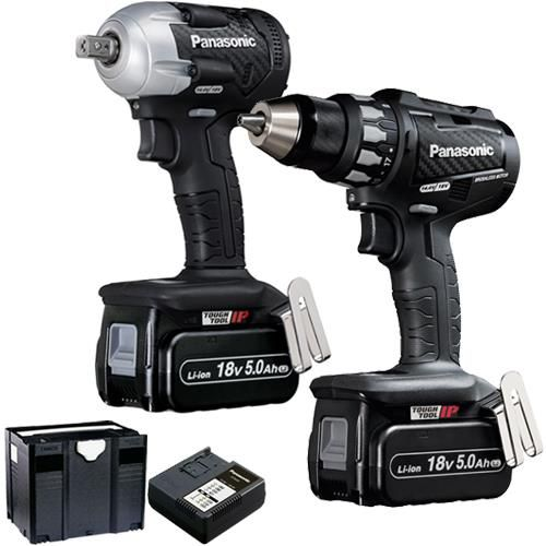 Click To Enlarge Panasonic 18v Brushless Ey74a2 Drill Driver Ey75a8 280nm Impact Wrench Twin Pack With Two Panasonic Power Tools Drill Driver Impact Wrench