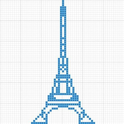 Eiffel Towers Cross Stitch And Towers On Pinterest