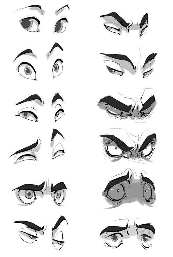 Expressions It S All In The Eyes And Eyebrows Cartoon Drawings Drawing Expressions Art Reference
