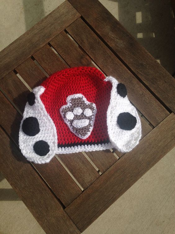 Marshall Paw Patrol Crochet Hat Pattern Free : Marshall from Paw Patrol Crocheted Hat Crochet My ...