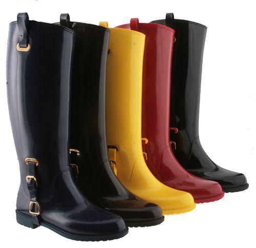 Details about Ralph Lauren Odette Rubber Rain Boots Womens | Ralph ...