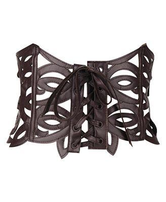corset style belt: