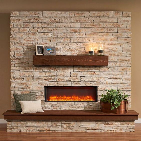 Outdoor Greatroom Gallery Collection Linear Supercast Wood Mantel | from hayneedle.com