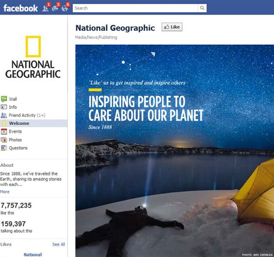 Best Examples of Facebook Fan Page Design
