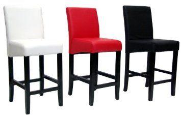 Amazon.com: North Canyon Counter Stool - Black (Set of 2): Furniture & Decor