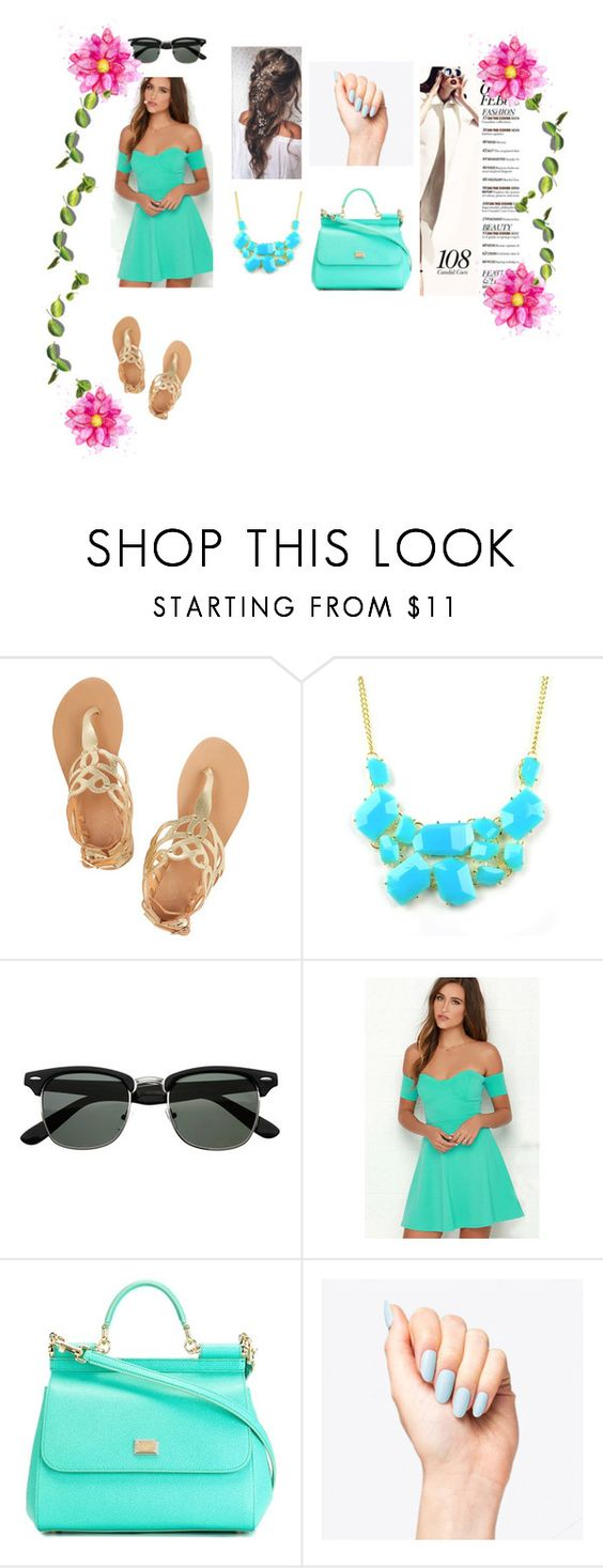 """""""..."""" by dzenitabesic ❤ liked on Polyvore featuring Ancient Greek Sandals, Emi Jewellery and Dolce&Gabbana"""