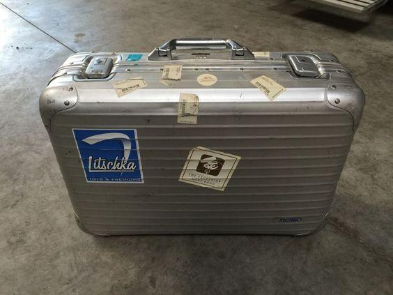 Rimowa Koffer Aluminium, mittlere Größe, ca. 55x36x20cm