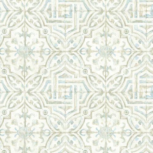 Sonoma Spanish Tile Wallpaper 21 Inch Sample Lelands Wallpaper In 2020 Tile Wallpaper Spanish Tile Spanish Style