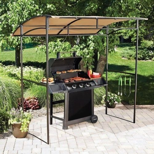 new mainstays curved grill gazebo awning bar b que smoker. Black Bedroom Furniture Sets. Home Design Ideas