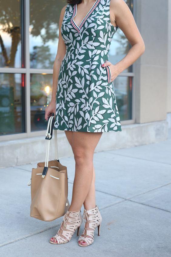 Asos floral dress with sport varisty stripes via @mystyleivta [My Style Vita]