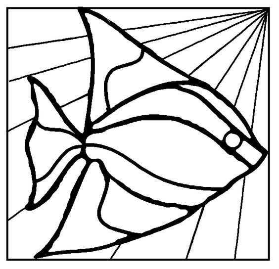Free stained glass mosaic patterns fish duck stained for Stained glass fish patterns