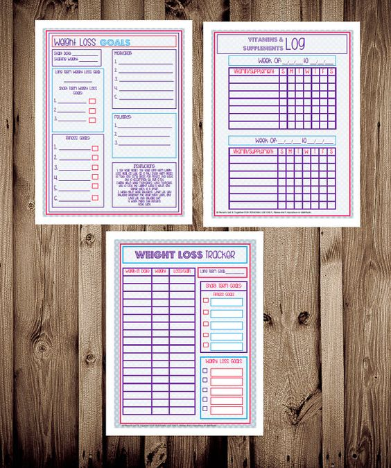 Health And Fitness Planner, Printable Fitness Inserts