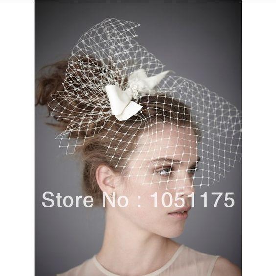 Impressionante uma camada de tule véu de noiva bem curto gaiola mantilha véus de noiva cabelo véu do casamento decoração acessórios em Véus de Noiva de Casamentos e Eventos no AliExpress.com   Alibaba Group