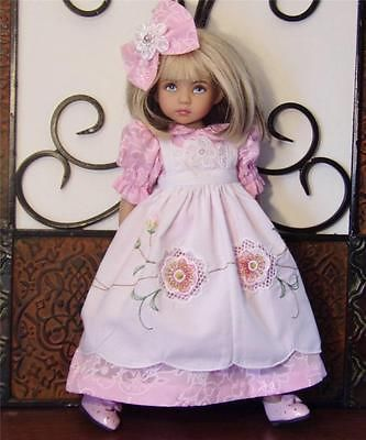 "Dress Pinafore Shoes Set Made for Effner Little Darling Similar Size 13""Doll   eBay. Ends 4/4/14. Sold for $81.00."