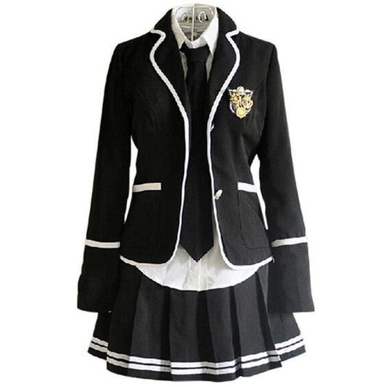 Lemail Wig New Autumn and Winter British School Uniforms Suit and... ($36) ❤ liked on Polyvore