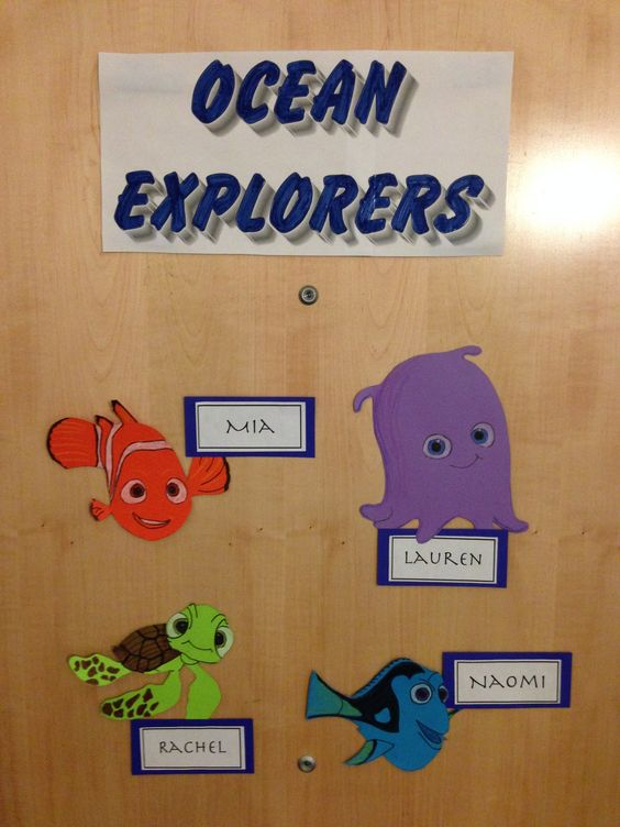 Creative suite style Disney themed door decs From the  ~ 233411_Dorm Room Name Tag Ideas