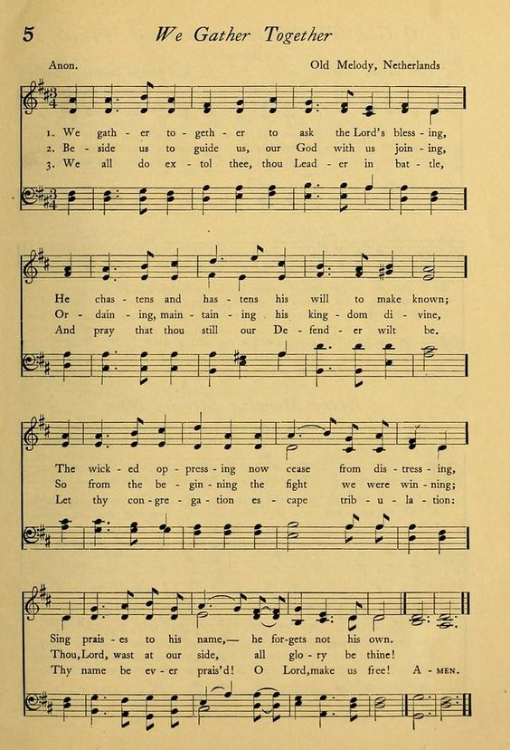 We Gather Together Sheet Music