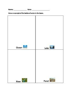 Landforms and Bodies of Water Lesson Plans