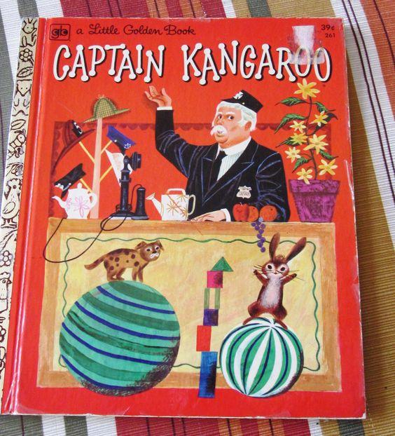 1972 Little Golden Book Captain Kangaroo