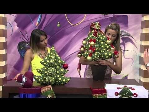 Mulher.com 23/10/2013 Vanessa Fernandes - Árvore de natal em tecido Parte 2/2 - YouTube