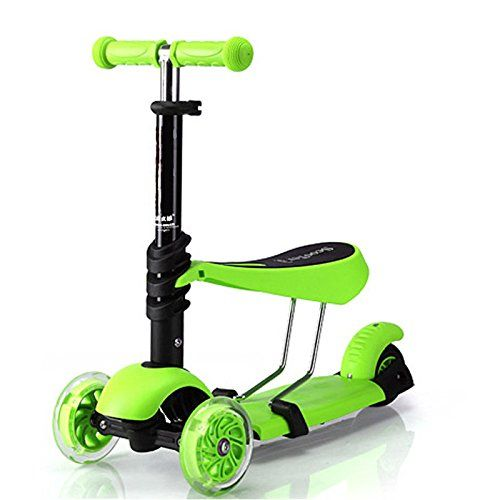 Jumphigh Baby Kids Sit Scooter 3 In 1 Kick Scooter With Removable