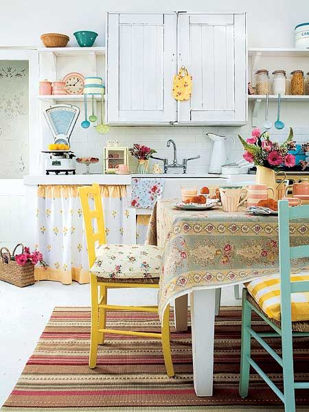 in this kitchen it would always be summer!