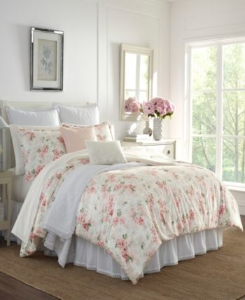 Laura Ashley Wisteria Velour Full Queen Comforter Set Reviews