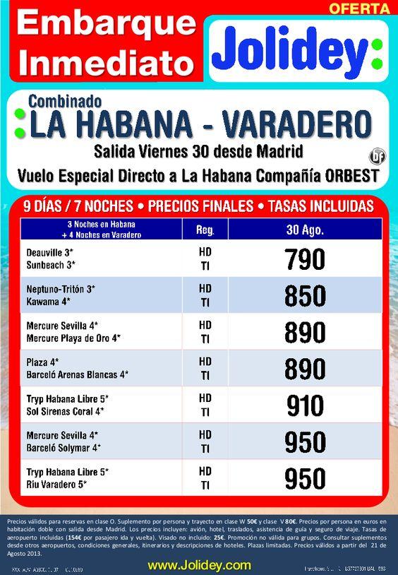 Embarque Inmediato Combinado Habana - Varadero desde 790€ tax. incluidas. Salida día 30 desde MAD - http://zocotours.com/embarque-inmediato-combinado-habana-varadero-desde-790e-tax-incluidas-salida-dia-30-desde-mad/