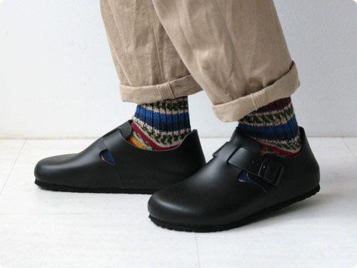 birkenstock london oiled leather black shoe