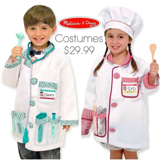 Melissa & Doug Halloween Costumes are here!!!  *great quality  *Ages 3-6  *Accessories included.