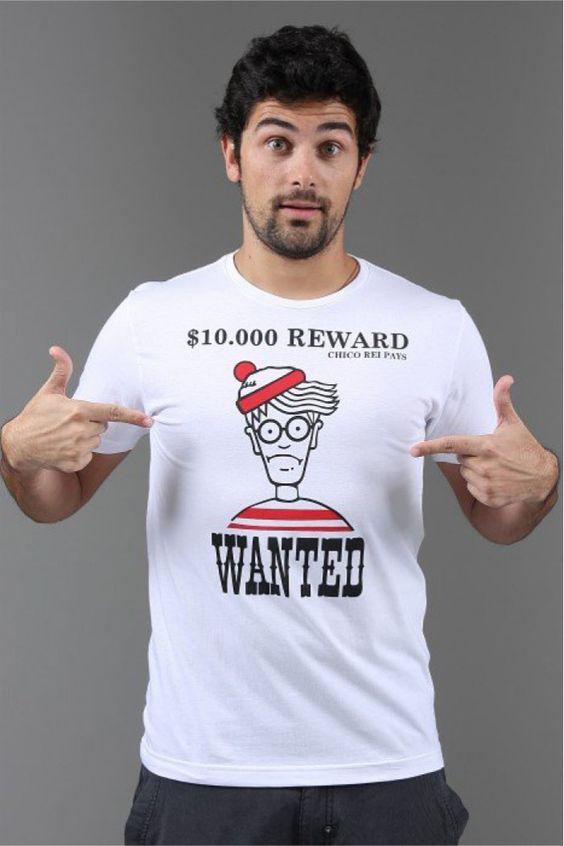 """[TOTD] Wally de Chico Rei  """"Wally"""", c'est pas """"Wall-E"""", mais bien """"Charlie""""… Enfin vous avez compris ! Notre TOTD nous vient en effet du Brésil, ou le mec qu'on cherche partout s'appelle Wally (""""Onde Está Wally?""""). CQFD. Bon bref, détails et infos dans la suite…  http://www.grafitee.fr/tee-shirt/wally-chico-rei/  #TOTD #lifestyle #fun #Tshirt #Charlie"""