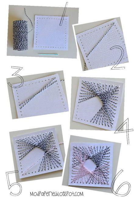 string art cards: String Art For Kids, Crafts Art, Art Cards, Math String Art, Square String Art, Twine Art, Diy String