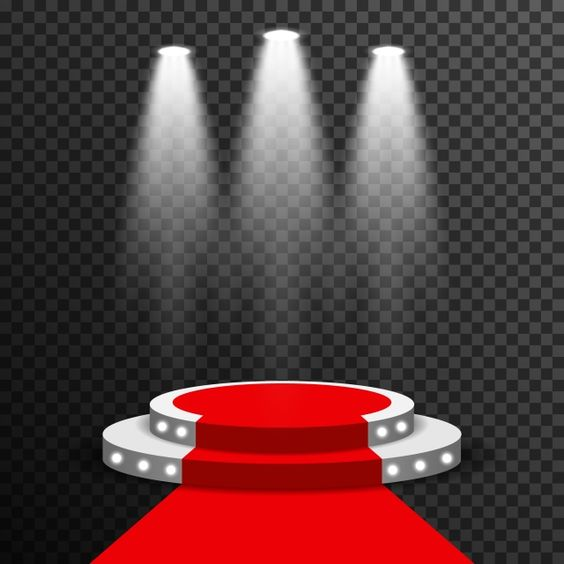 Stage Podium Illuminated Scene Spotlight Y Award Ceremony With Red Carpet Vector Transparent 3d Abstract Png And Vector With Transparent Background For Free Podium Light Background Images Light Effect